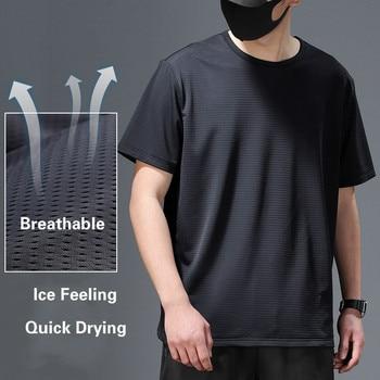2020 Tshirt Men Viscose Fiber Short Sleeve Men s Summer Thin Mesh Quick Drying T