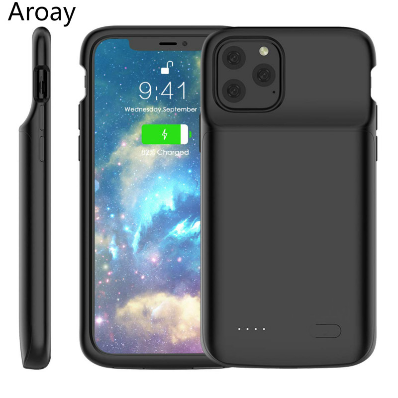 Aroay 5000mAh Battery Charging Case For iPhone11 Power Bank Charging Ultra External Back Battery Pack For iPhone11Pro 11ProMax|Battery Charger Cases|   - AliExpress