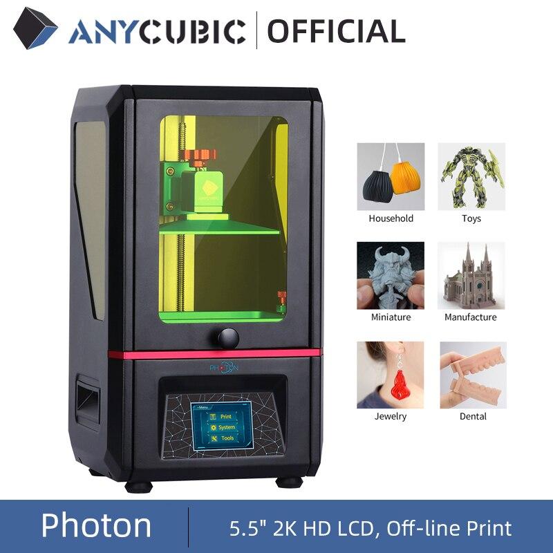 ANYCUBIC 3D Printer Photon SLA UV Resin Light-Cure Impresora 405nm Resin Plus Print Size 3d Drucker