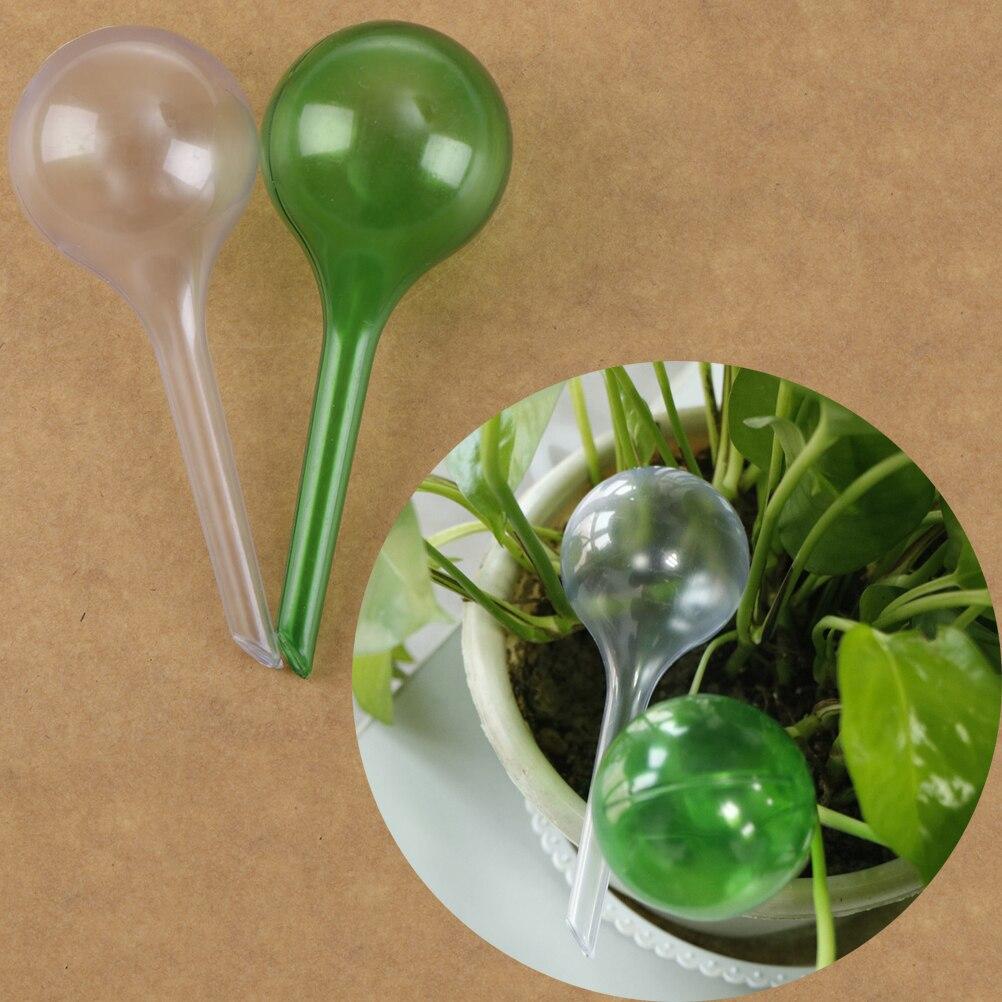 Practical PVC Travel House Plant Self Watering Bulb Shape Waterer Globes Automatic Irrigation Patio Lawn Garden Pot Planter Cans