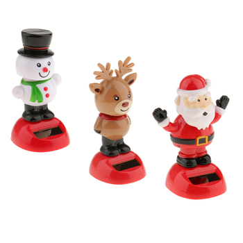 3 uds coche tablero juguete Cabezón Bobble cabeza juguetes muñeco de nieve Reno juguetes Santa Claus casa figurillas decorativas ornamento