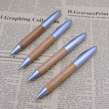 (12 Pieces/Lot) Portable 0.5 mm Black Ink Bamboo Ball Pens Signature Ballpoint Pen School Office Writing Stationery Joy Corner