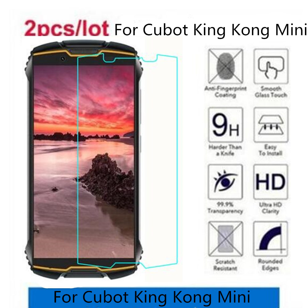 2.5D 9H Tempered Glass For Cubot King Kong Mini Screen Protector Toughened Protective Film For Cubot King Kong Mini Glass