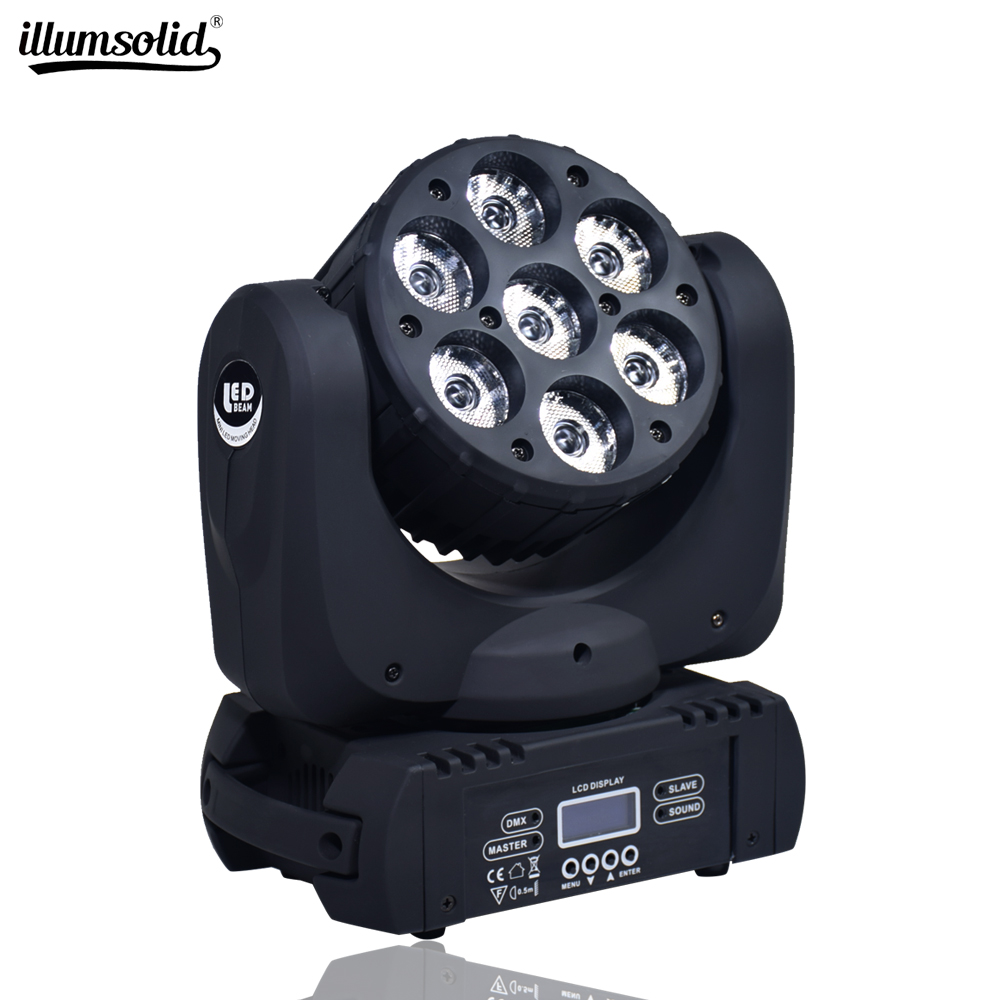 Moving Head LED Wash Beam Stage Lighting DMX 512 DJ For 7X12W 12X12W And 36X3W