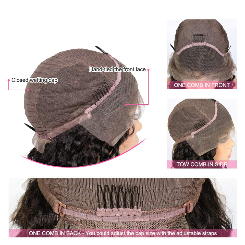 13x4 Lace Front  Wigs  Straight  Wigs 150% density Frontal Wig Pre Plucked 13x4 Lace Closure Wigs 4