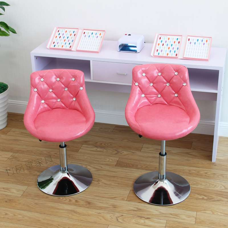European Bar Stool Chair Lift Swivel Chair Bar Stool Beauty Dressing Backrest Dining Chair Makeup Artist Chair