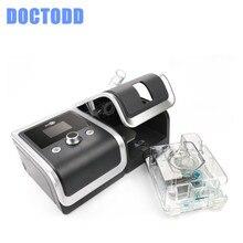 DOCTODD GII Respirador Com Livre Máscara de CPAP Ventilador Umidificador Filtro Saco De Mangueira Melhor Solução para DPOC Anti Sonring Apneia CPAP