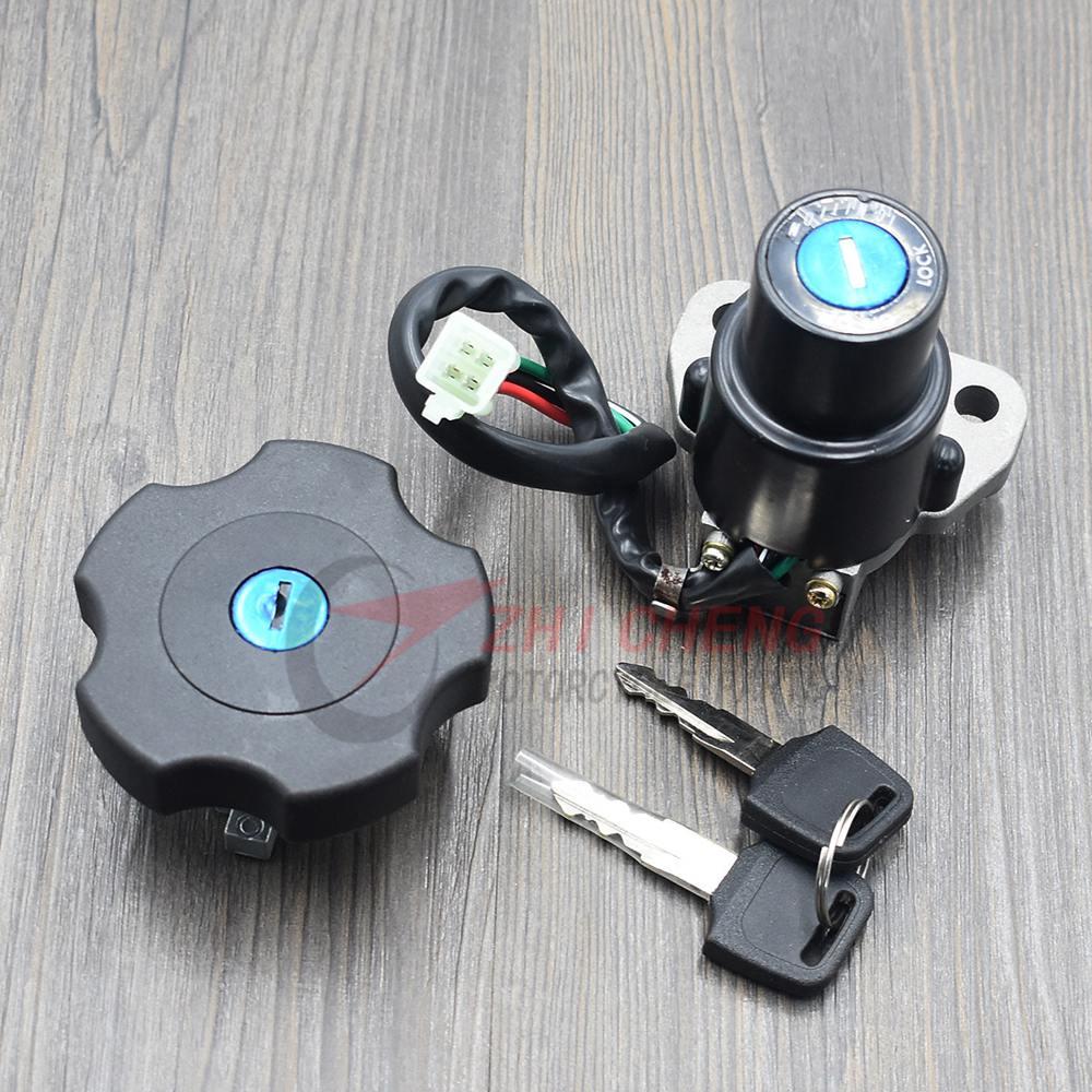 Motorcycle Ignition Lock Tank Cap Lock Key Set For Yamaha XT600 TW200 2003-2017 DT200 DT200R 1991-1994 XT225 Serow 225