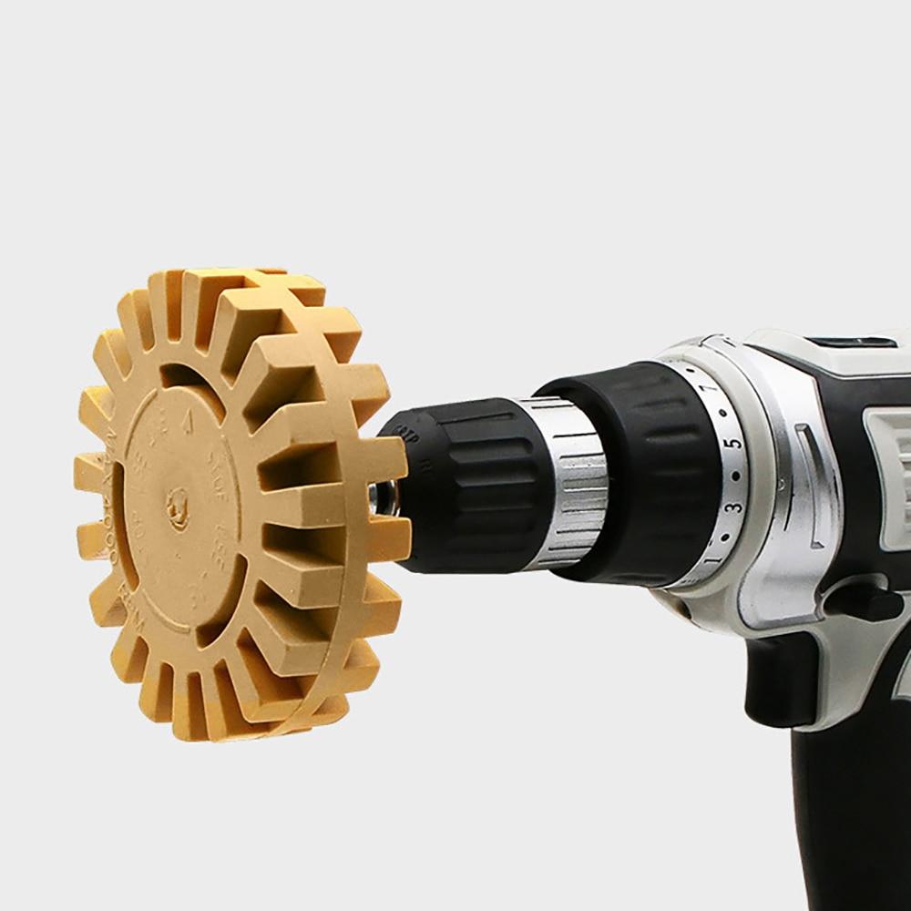 Universal Rubber Eraser Wheel For Remove Car Glue Adhesive Sticker Auto Repair Paint Tools