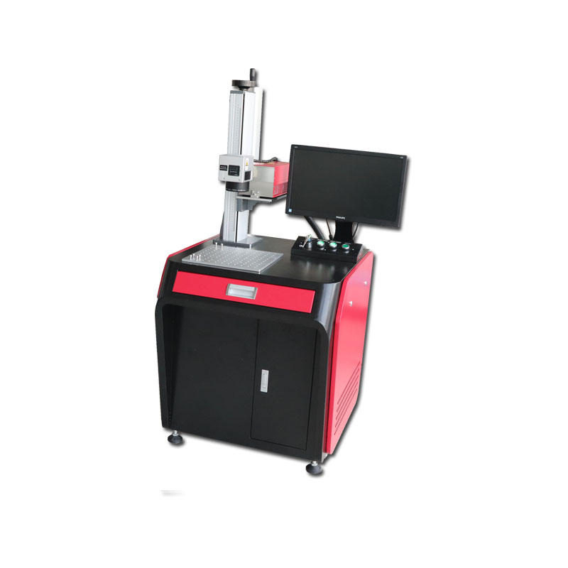 3W 5W UV Laser Marking Engraving Etching Machine For Plastic Bag Label AK3F/ AK5F