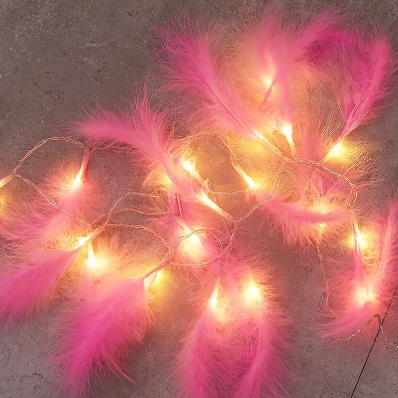 Nova pena fio de cobre string luz fadas guirlanda decorações de natal para casa quarto navidad presente ano novo bateria operado