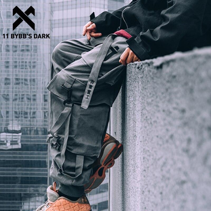 11 BYBB'S DARK Techwear Cargo Pants Men Multi Pockets Hip Hop Casual Streetwear Trousers Joggers Elastic Waist Sweatpants