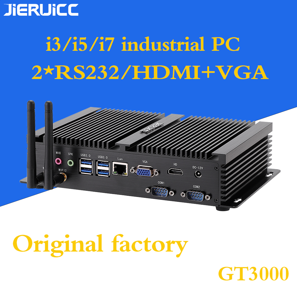 I3 I5 I7 Industrial Mini Pc With 2lan Rs232 Com Port.7usb Port,HDMI,VGA Dual Display For Medical Care