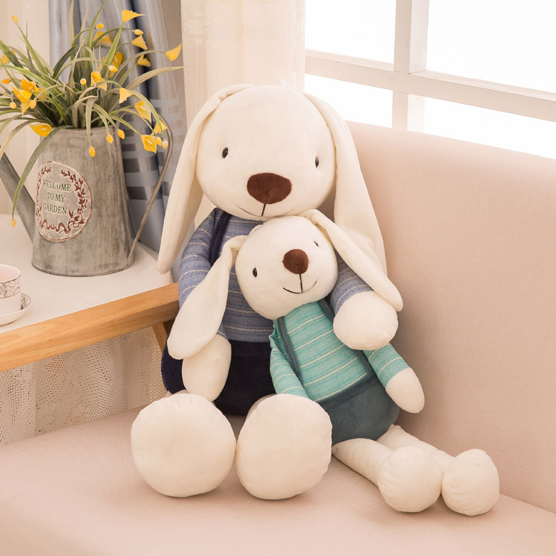 40cm Cute Bunny Plush Rabbit Toy Soft Cloth Stuffed Rabbit Easter Gift Decor For Children Kids Newyear Gift Baby Appease Toys image