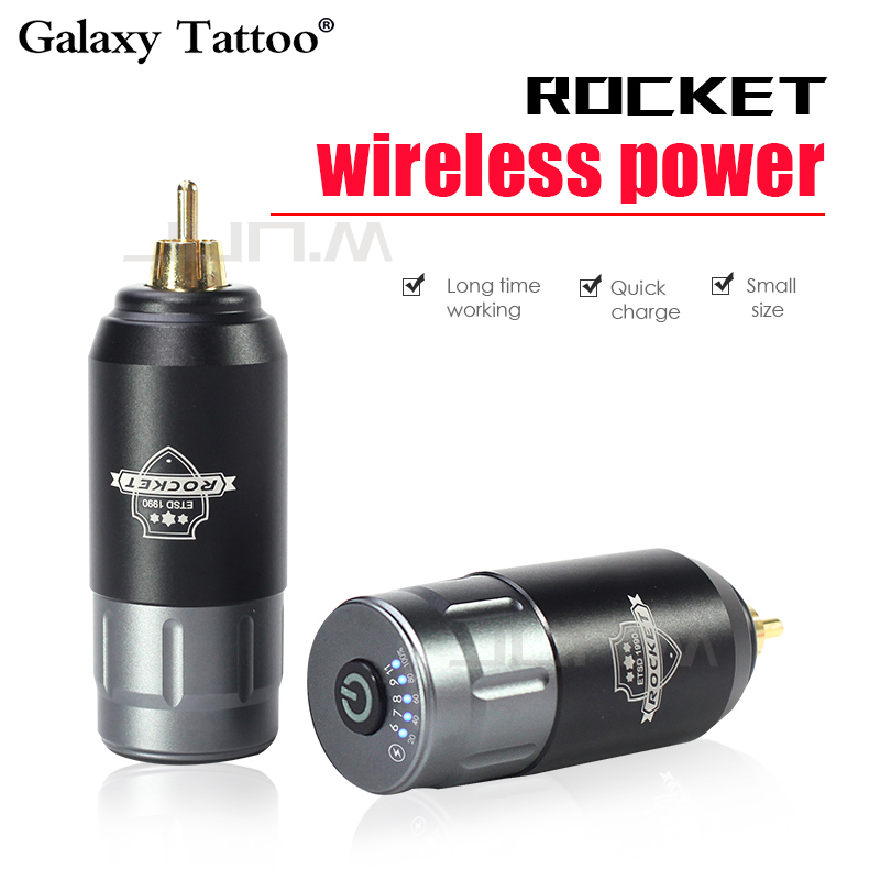 New Rocket Tattoo Mini Wireless Power For Tattoo Rotary Machine Pen RCA Connection Tattoo Power Supply