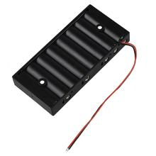 MasterFire 20pcs/lot New Plastic 8 X 1.5V AA 2A CELL Battery Holder Storage Box Standard 12V Batteries Case with Wire Leads hl 2017 diy 12v 8 x aa battery holder case box with leads switch may8