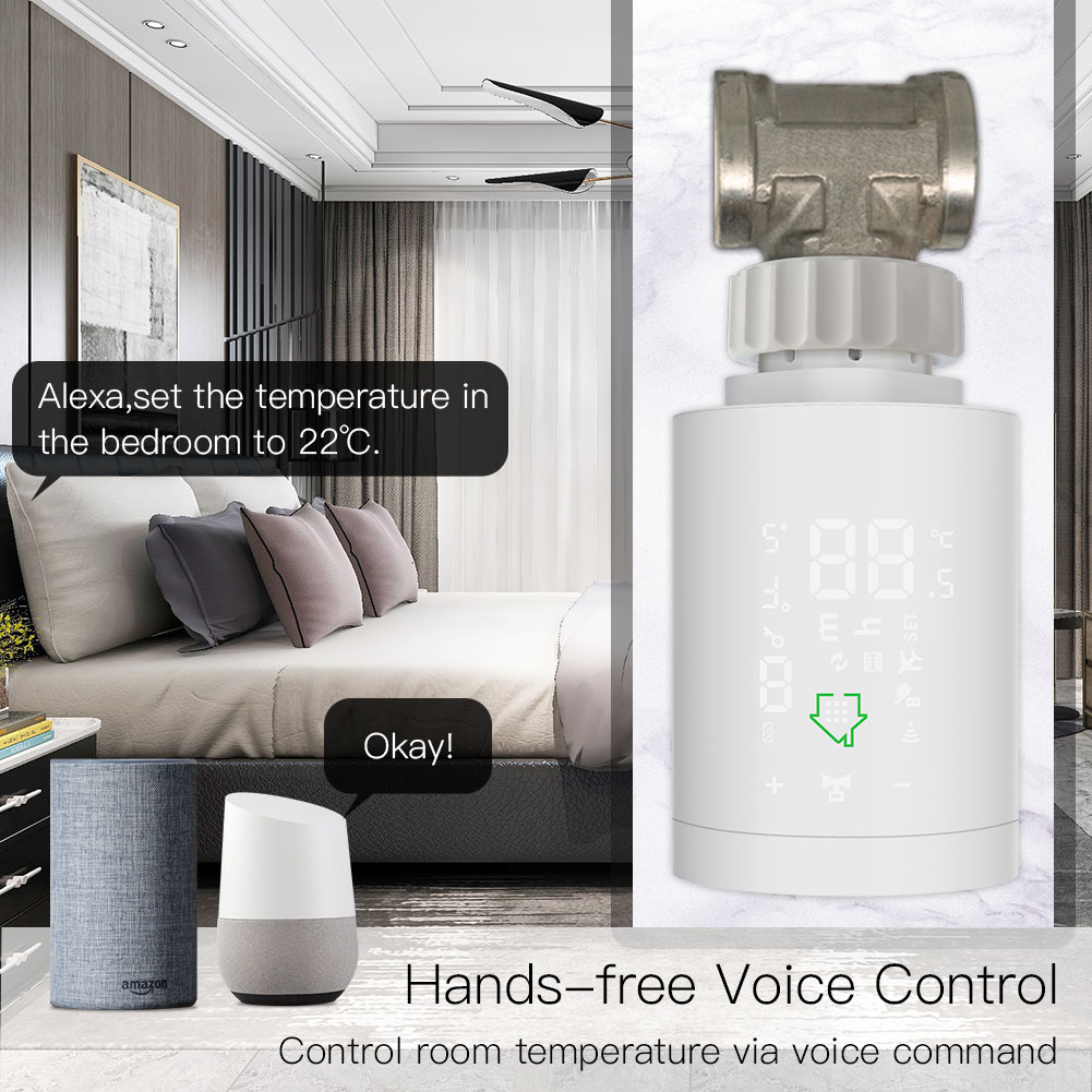 Ultimate SaleTemperature-Controller Valve Thermostatic Radiator Actuator Tuya Alexa Programmable Zigbee3.0