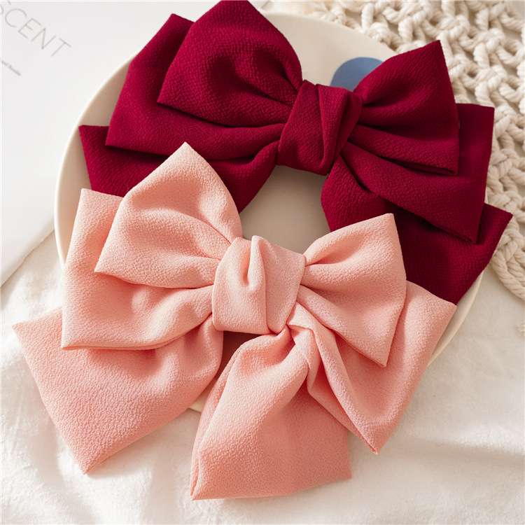 Three-layer Big Bow Spring Clip Lady Hair Clip Sweet Japanese Style Girl Hairgrips Holiday Gift Women Headwear Hair Accessories