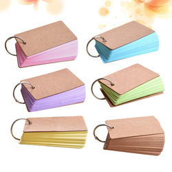 6pcs Creative Memos Word Cards Kraft Paper Blinders for Staionery Supplies School
