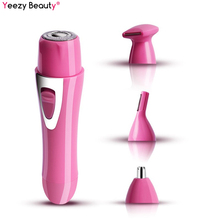 Electric Facial Hair Removal Shaver Nose Trimmer Mini Multifunction Epilator Waterproof Lady Depilator Shaving USB Charge