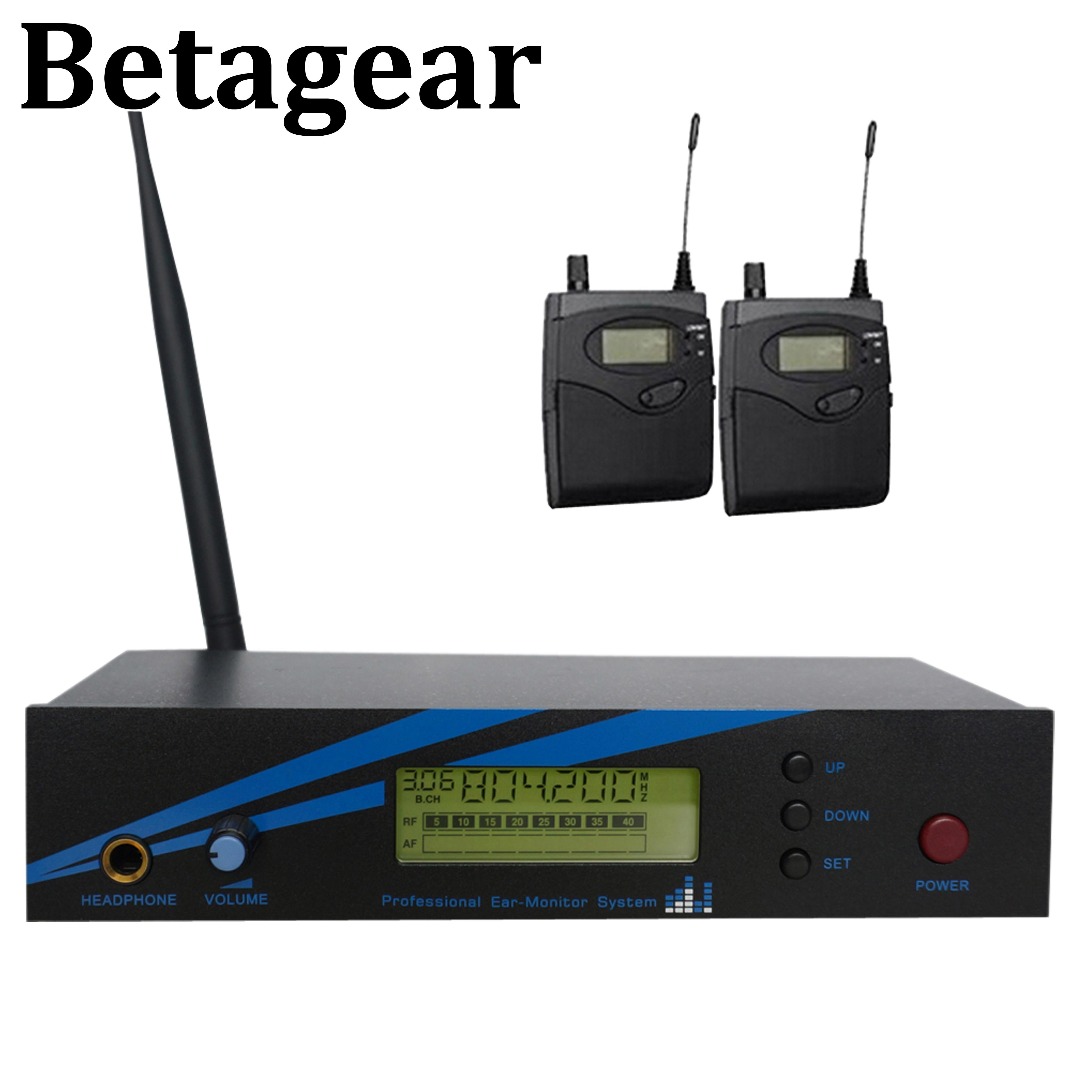 Betagear mono in ohr-monitor drahtlose system BK500 einzigen kanal 798-830MHz 2 empfänger professionelle leistung audio bühne