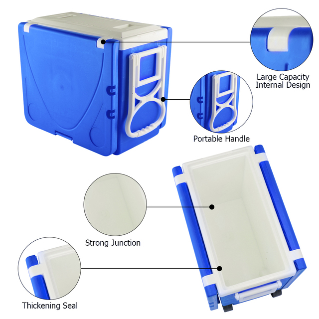 Outdoor Picnic Foldable Multi-function Rolling Cooler Stool  5