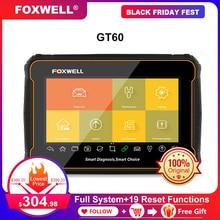 FOXWELL GT60 Scanner de Diagnostic automobile, outil de Diagnostic de voiture, système complet, ABS SRS EPB DPF, réinitialisation de lhuile, PK MK808, câble OBD2