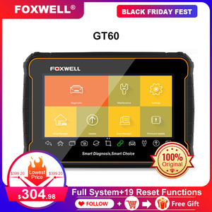 Image 1 - FOXWELL GT60 Scanner de Diagnostic automobile, outil de Diagnostic de voiture, système complet, ABS SRS EPB DPF, réinitialisation de lhuile, PK MK808, câble OBD2