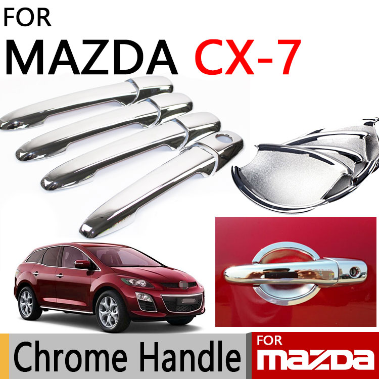 Voor Mazda CX-7 2006-2011 Accessoires Chrome Deurgreep CX7 2007 2008 2009 2010 Luxe Geen Roest Auto Sticker auto Styling