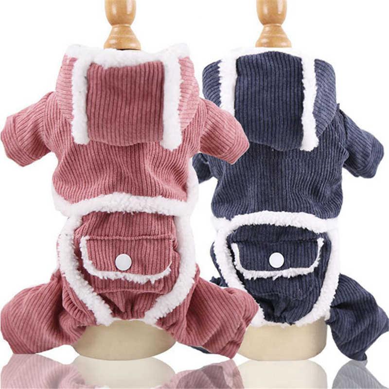 Automne hiver vêtements pour animaux de compagnie pour petits chiens chaud chiot manteau pour animaux de compagnie veste dessin animé chien sweats à capuche Chihuahua bouledogue français Teddy vêtements