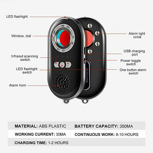 New Hot Multifunctional Infrared Detector Invisible Camera D…