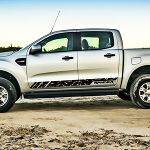 Автомобильные наклейки, пятнистые боковые двери в полоску, графические виниловые классные наклейки на автомобиль, подходят для Ford ranger 2012 2013...