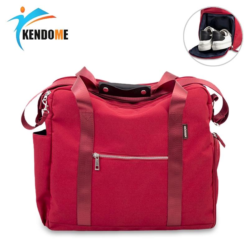 Women Fitness Sports Bag Men Sport Gym Training Bag Large Capacity Outdoor Handbag Oxford Travel Bag Shoe Compartment Luggage