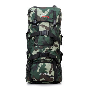 Outdoor Mountaineering Bag Men's 70L Large-Volume Camouflage Backpack Army Fans Camping Backpack