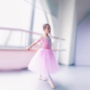 Image 4 - Geel Ballet Tutu Professionele Kind Lange Tulle Zacht Roze Romantische Ballet Tutu S Voor Meisjes Blauw Ballerina Jurk Meisjes Dans