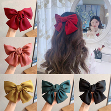 Korea Bowknot Hair Clip Hair Band Ribbons for Women Girls Sweet Ponytail Clip Rubber Band Hairpin Accessories