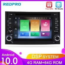 """7 """"Android10.0 coche DVD Radio Estéreo para Audi A4 S4 2002, 2003, 2004, 2005, 2006, 2007, 2008 navegación GPS reproductor de vídeo WIFI Unidad Principal"""