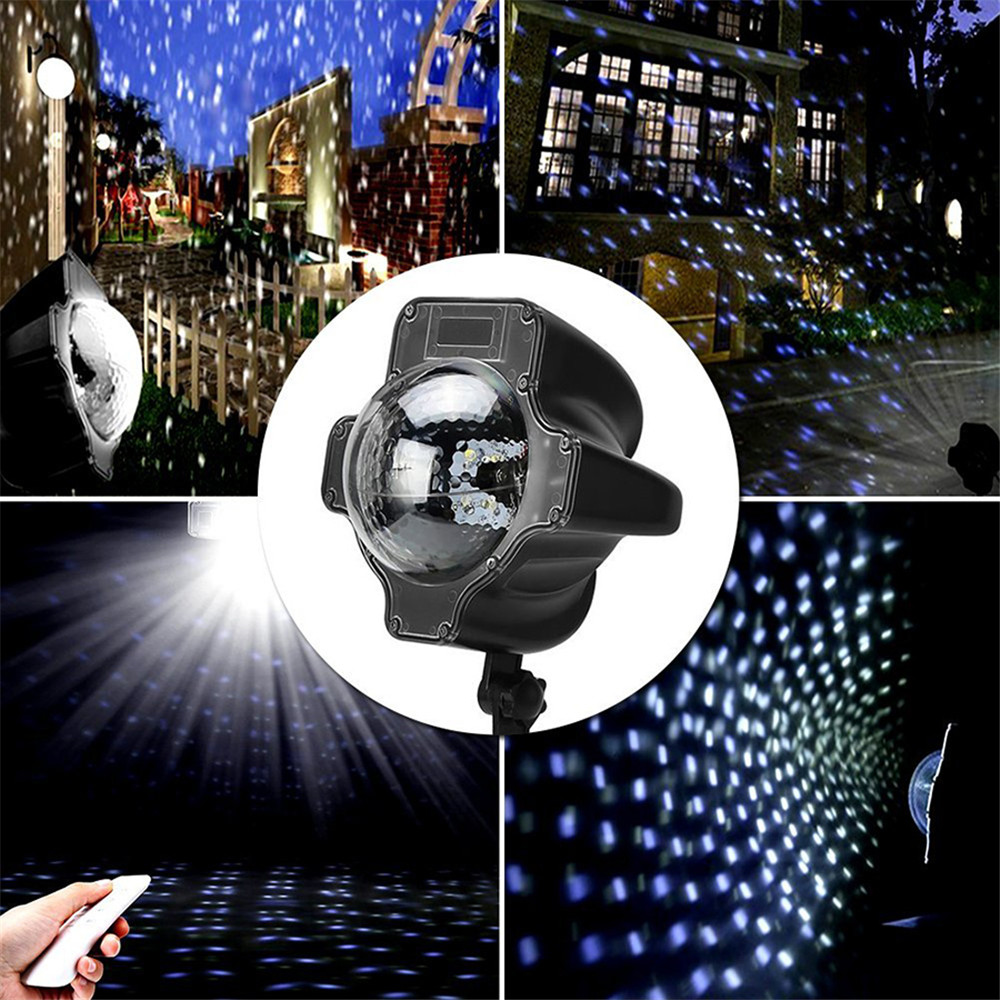 IP65 Rotating Snowfall LED Laser Projector Light Outdoor/Indoor Moving Snow Landscape Spotlights With Remote Controller