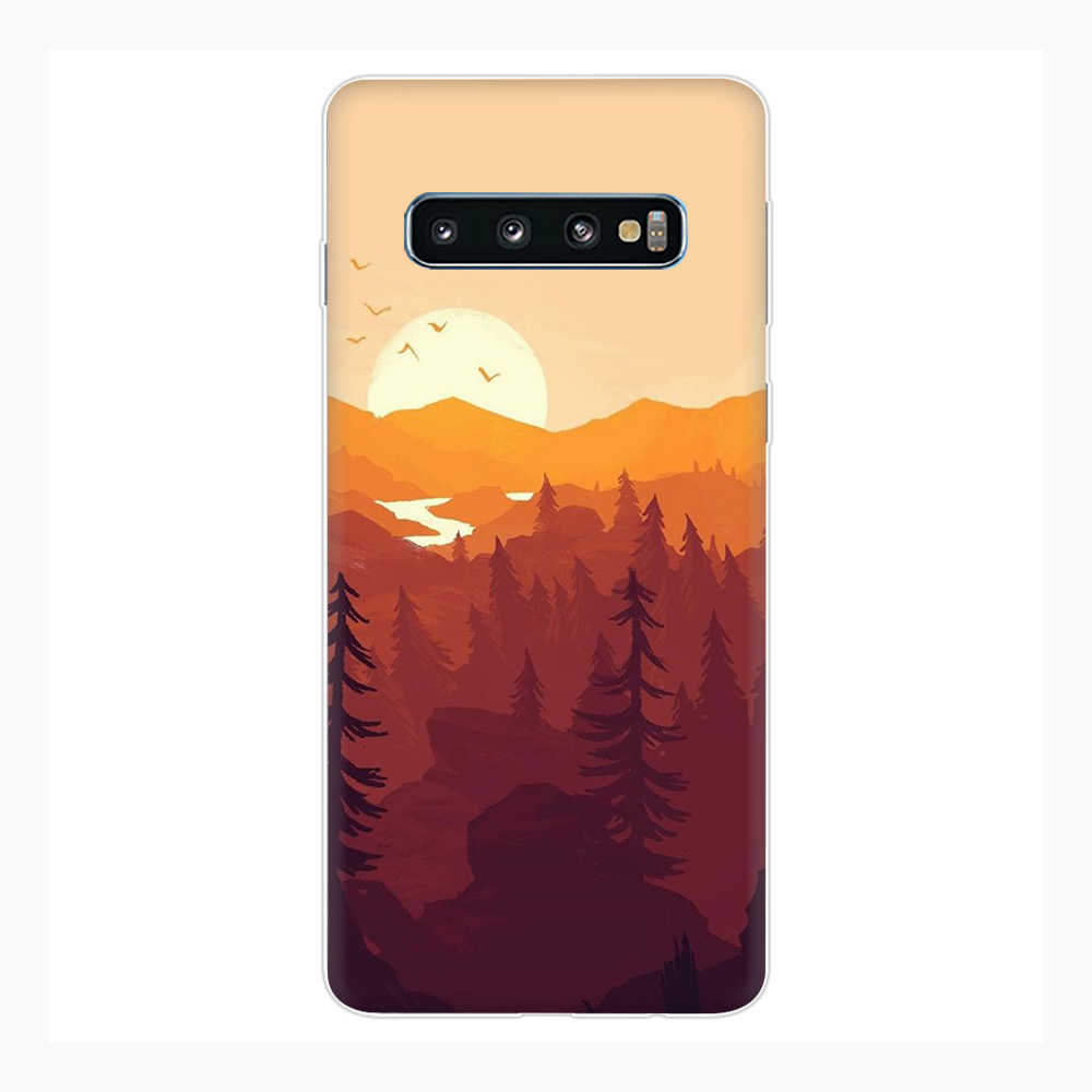 Firewatch סיליקון טלפון מקרה עבור סמסונג S7 קצה S8 S9 S10e הערה 8 9 10 בתוספת M10 20 30 40