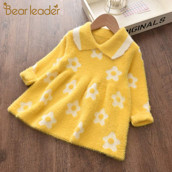 Bear Leader Girls Dress Autumn Winter Girl Party Dresses Casual Princess Flowers Kids Children Clothing Christmas Outfits