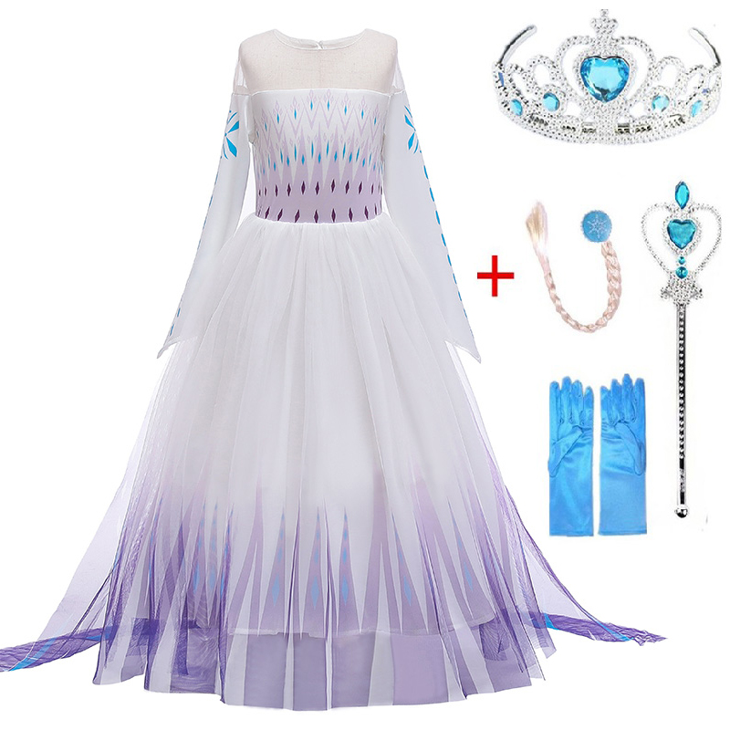3-10 Years Anna Elsa Girls Princess Sleeping Beauty Girl Dress Kids Cosplay Dress Up Halloween Costumes For Kids Party Dress