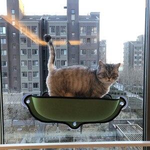Image 5 - Kedi pencere hamak yatak vantuz yumuşak Kitty asılı yatak Basking raf koltuk Pet kedi dinlenme evi ayı Max 13kg