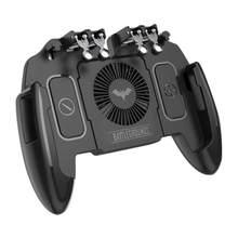 M11 sześć 6 palec pracy Gamepad PUBG Mobile kontroler typu Joystick obrót przycisk Gamepad z wentylatorem chłodzącym dla PUBG z systemem Android iOS