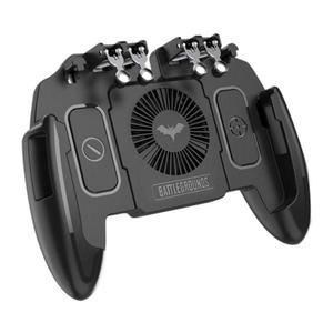 M11 Six 6 Finger Operating Gamepad PUBG Mobile Joystick Controller Turnover Button Gamepad With Cooling Fan for PUBG iOS Android