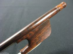 advanced Baroque style Snakewood violin bow 4/4,676mm
