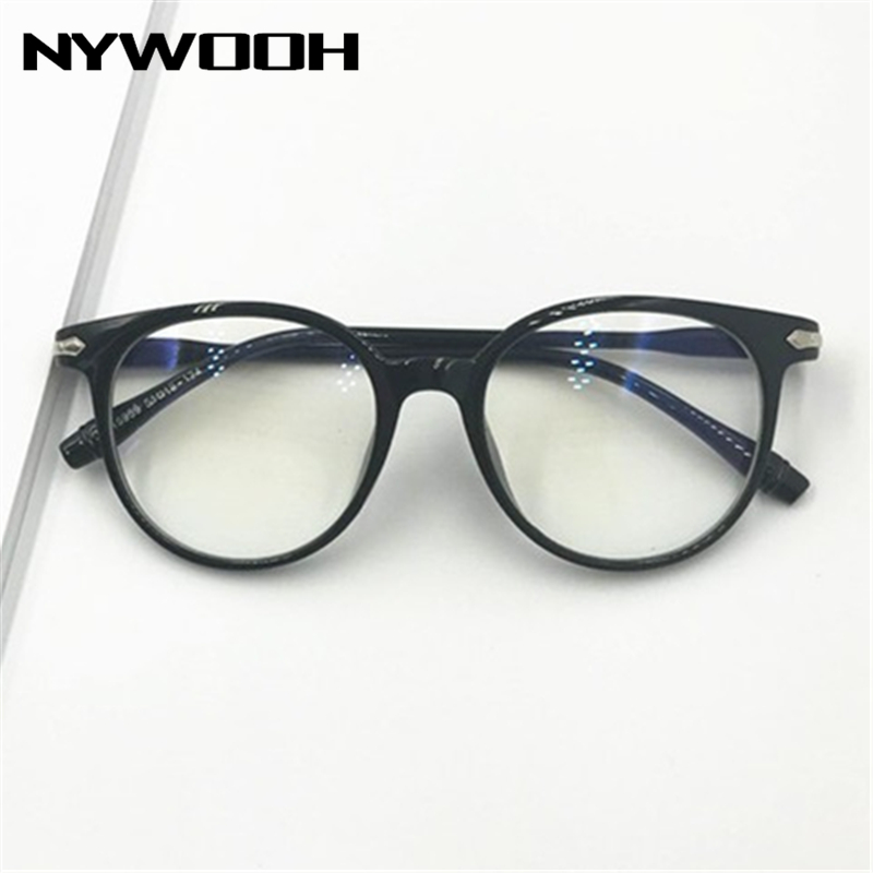 NYWOOH -1 -1.5 -2 -2.5 -3 -3.5 To -6.0 Finished Myopia Glasses Women Men Clear Spectacles Retro Eyeglasses Short-sight Eyewear
