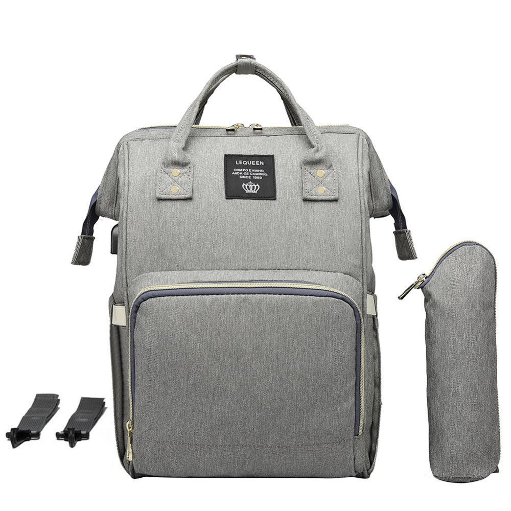 LEQUEEN Mummy Maternity Diaper Bag USB Charging Nursing Backpacks Large Mummy Nappy Bag Waterproof Mummy Maternity Nappy Bag