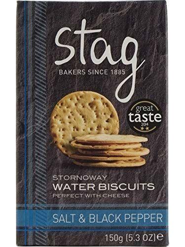 Stag Stornoway Wasser Kekse Water Biscuits Mit Salz & Schwarzem Pfeffer (150g)