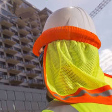 Safety Helmet Hard-Hat Construction-Workers Reflective Summer Sunshade Mesh for Protection-Warning