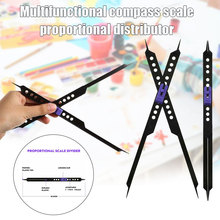 10 Inches Proportional Scale Divider Drawing Tool for Artists Adjustable Plastic KQS8